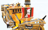 Батут Корабль пираты Карибского моря
