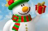 Снеговик зеленый