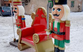 Трон Санта Клауса (с солдатиками)