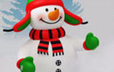 Снеговик красный